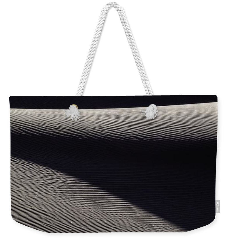 Sand Weekender Tote Bag featuring the photograph Wind-rippled Sand Dunes In Death Valley by Michael Nichols