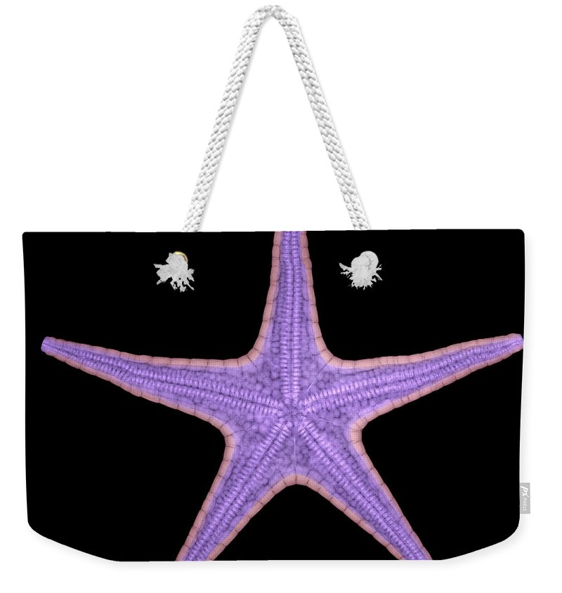Xray Weekender Tote Bag featuring the photograph X-ray Of Starfish by Ted Kinsman