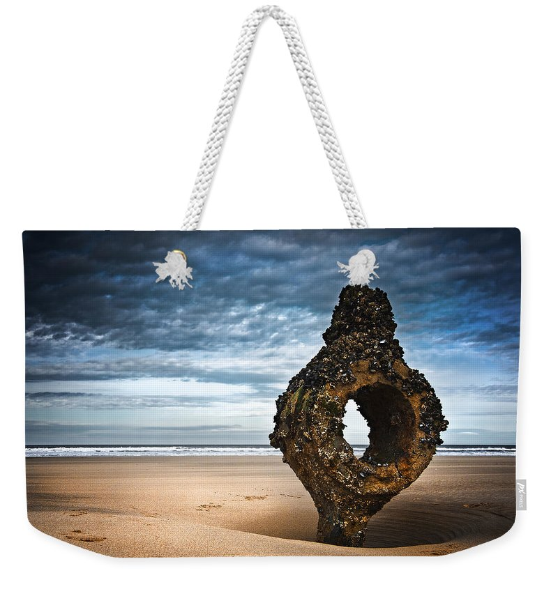 Bay Weekender Tote Bag featuring the photograph Yorkshire Coast by Svetlana Sewell