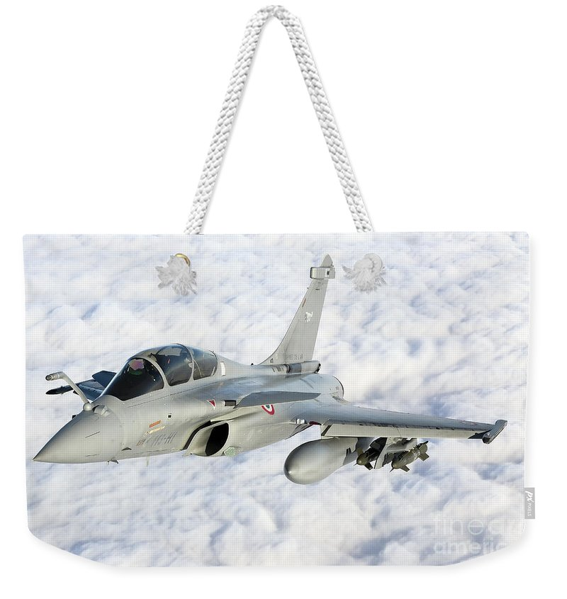 French Air Force Weekender Tote Bag featuring the photograph Dassault Rafale B Of The French Air by Gert Kromhout