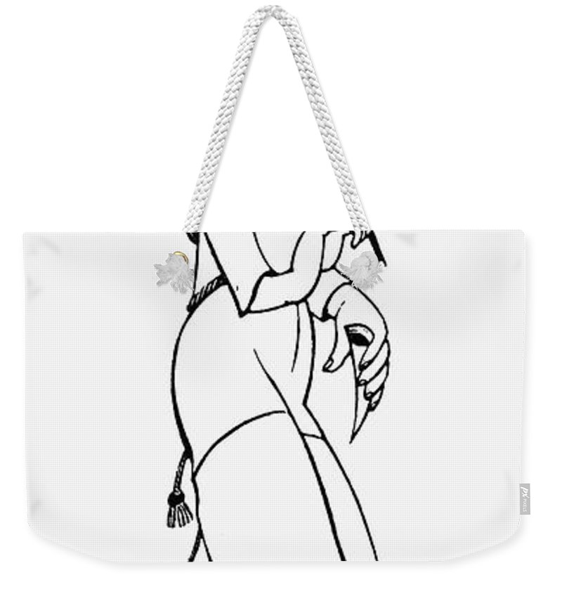 1927 Weekender Tote Bag featuring the photograph Eric Gill (1882-1940) by Granger