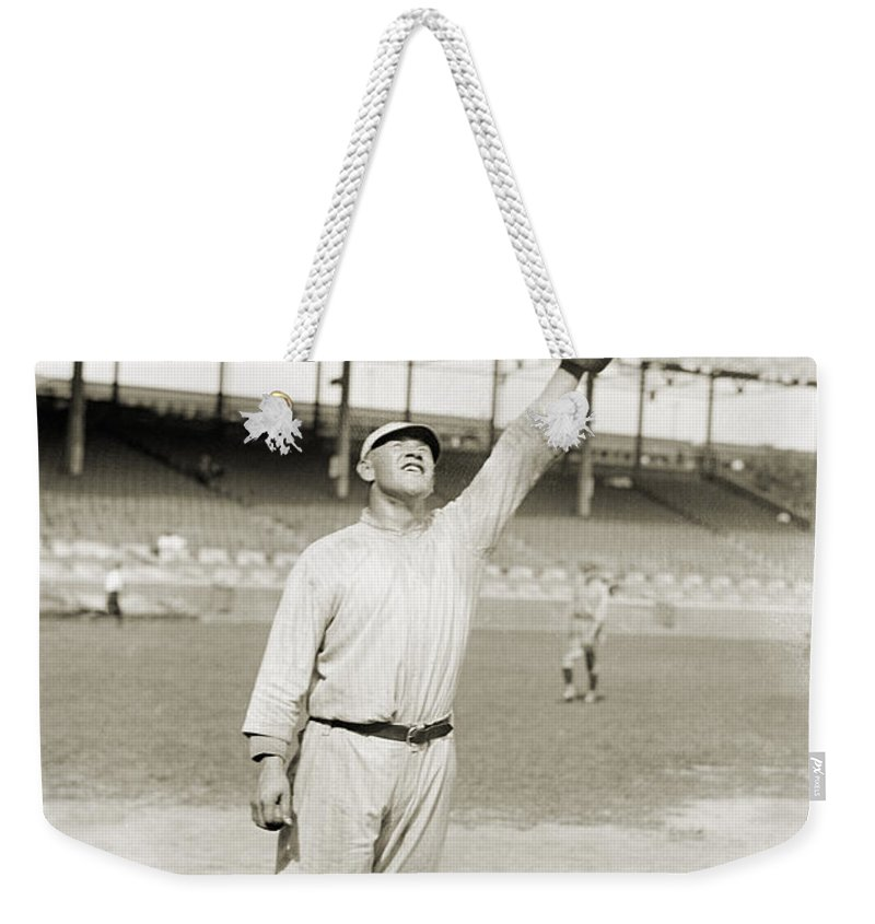 1917 Weekender Tote Bag featuring the photograph Jim Thorpe (1888-1953) by Granger