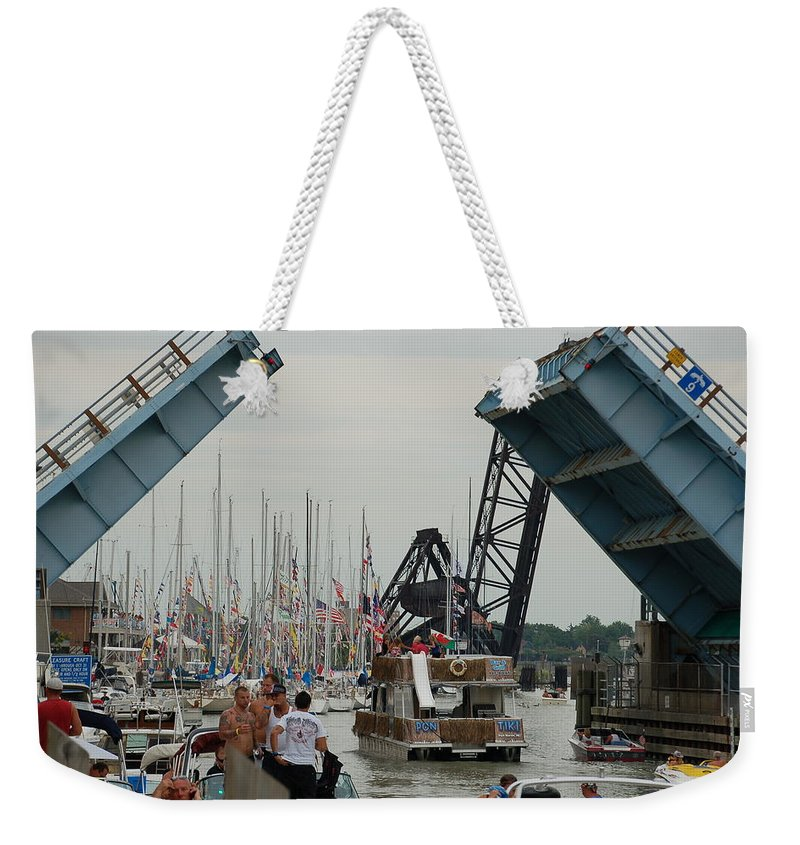 Sailboats Weekender Tote Bag featuring the photograph Port Huron To Mackinac Island Race by Randy J Heath