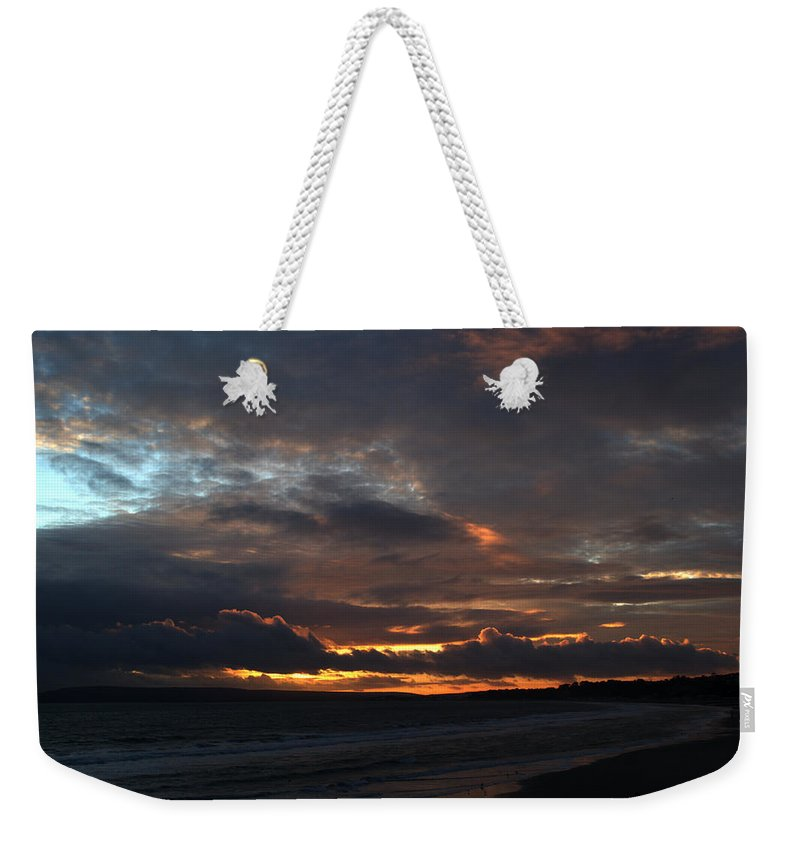 Sunset Weekender Tote Bag featuring the photograph Bournemouth Sunset by Chris Day