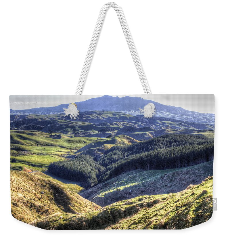 Countryside Weekender Tote Bag featuring the photograph Landscape by Les Cunliffe