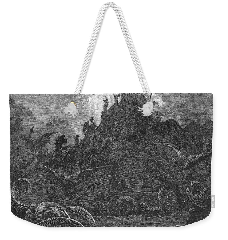 Book Weekender Tote Bag featuring the photograph Milton: Paradise Lost by Granger