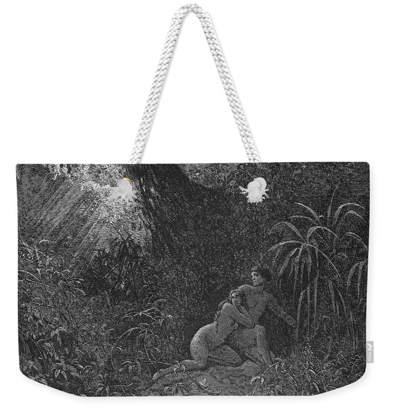 19th Century Weekender Tote Bag featuring the photograph Milton: Paradise Lost by Granger