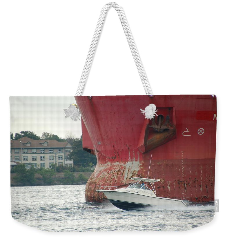 Sailboats Weekender Tote Bag featuring the photograph Port Huron To Mackinac Race by Randy J Heath