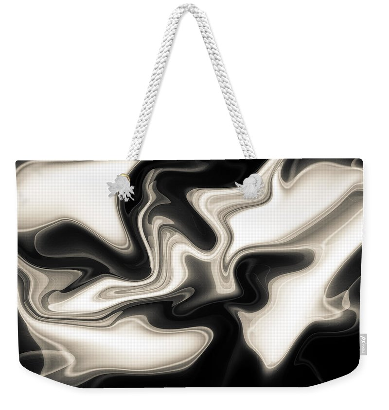Art Weekender Tote Bag featuring the digital art Abstract Pattern Art by David Pyatt