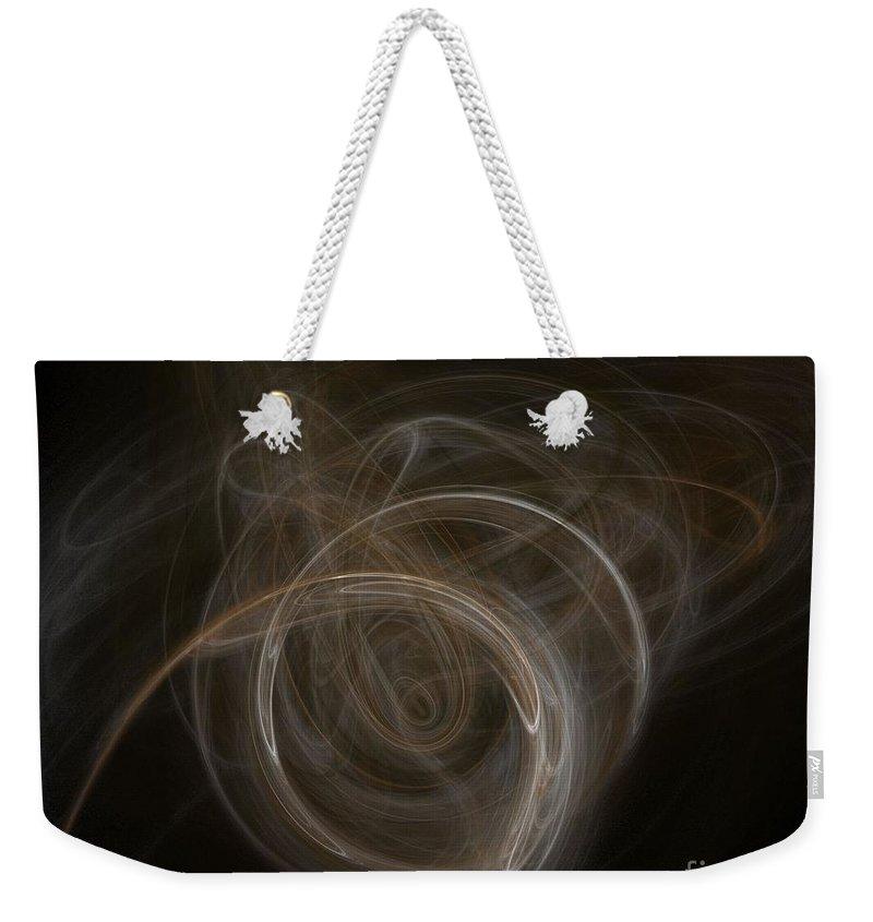 Background Weekender Tote Bag featuring the digital art Fractal by Henrik Lehnerer