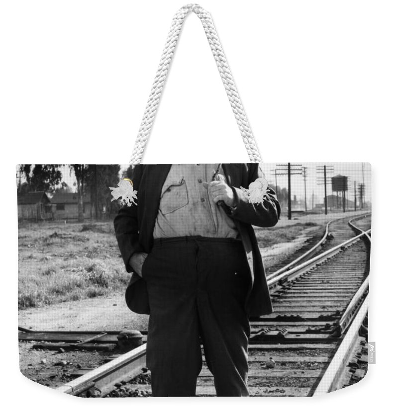 20th Century Weekender Tote Bag featuring the photograph Silent Film Still by Granger