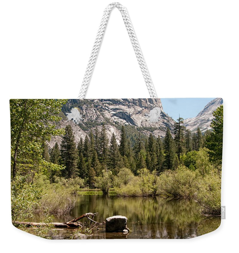 Ahwiyah Point Weekender Tote Bag featuring the digital art Yosemite by Carol Ailles
