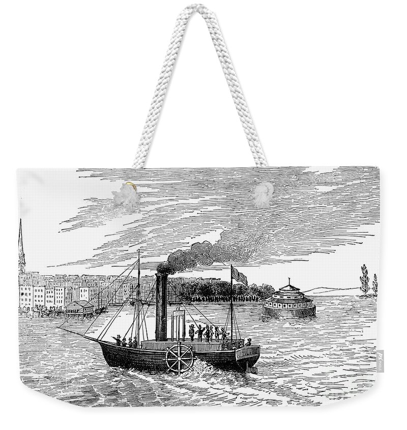 1902 Weekender Tote Bag featuring the photograph Robert Fultons Clermont by Granger