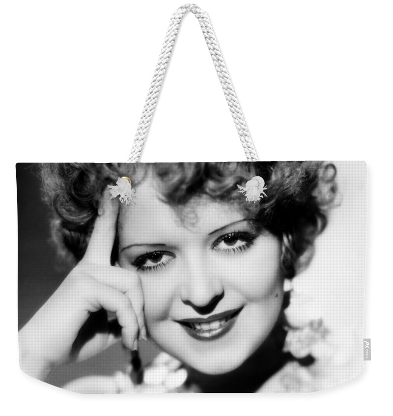 1930s Weekender Tote Bag featuring the photograph Clara Bow (1905-1965) by Granger