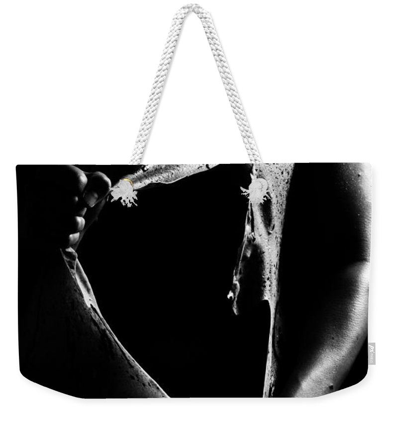 Nude Photographs Weekender Tote Bag featuring the photograph Liquid Latex by Pavel Jelinek