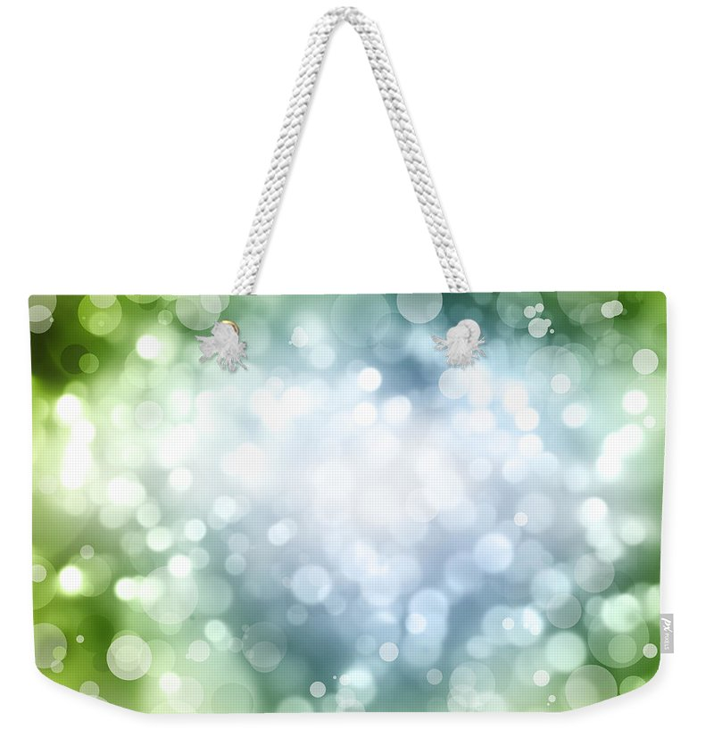 Green Weekender Tote Bag featuring the photograph Abstract Background by Les Cunliffe