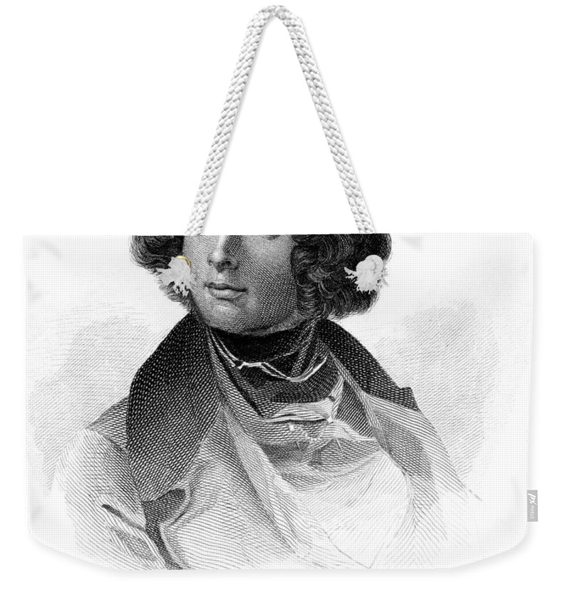 19th Century Weekender Tote Bag featuring the photograph Charles Dickens (1812-1870) by Granger