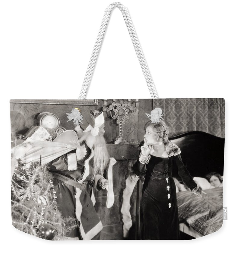 -ecq- Weekender Tote Bag featuring the photograph Silent Film Still by Granger