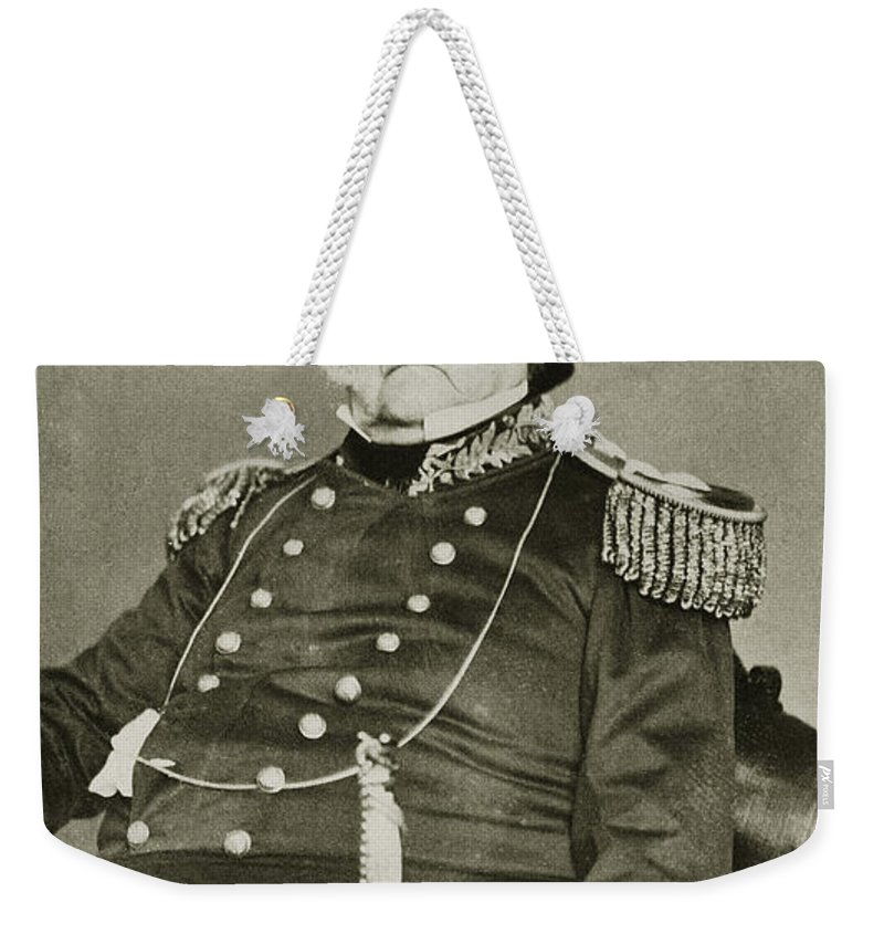 1862 Weekender Tote Bag featuring the photograph Winfield Scott (1786-1866) by Granger