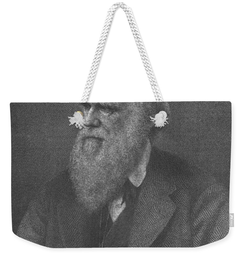 Science Weekender Tote Bag featuring the photograph Charles Robert Darwin, English by Science Source