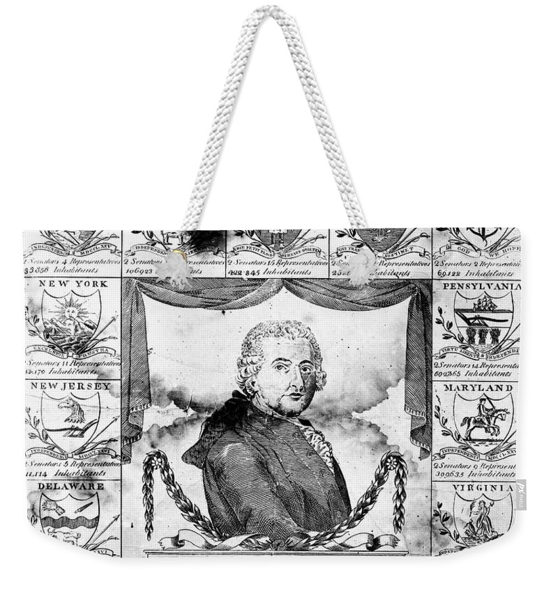1799 Weekender Tote Bag featuring the photograph John Adams (1735-1826) by Granger