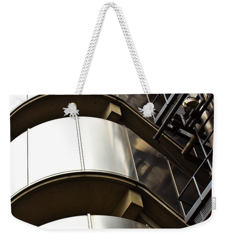 Lloyds Weekender Tote Bag featuring the photograph Lloyd's Building London by David Pyatt