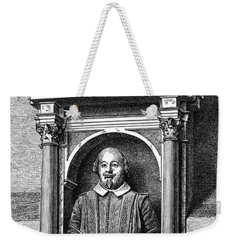 16th Century Weekender Tote Bag featuring the photograph William Shakespeare by Granger