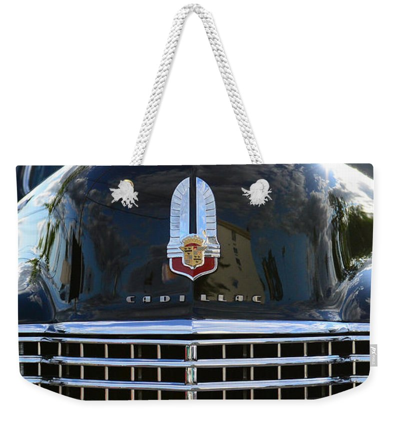 1941 Cadillac Weekender Tote Bag featuring the photograph 1941 Cadillac Grill by Paul Ward