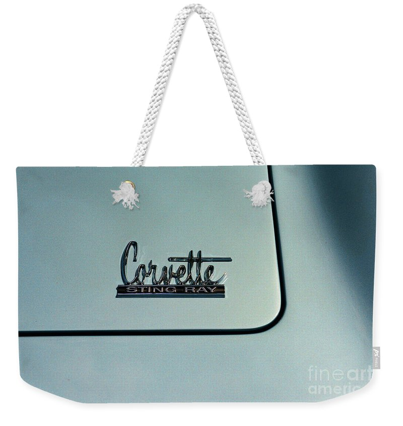 1966 Corvette Sting Ray Weekender Tote Bag featuring the photograph 1966 Corvette Sting Ray by Paul Ward