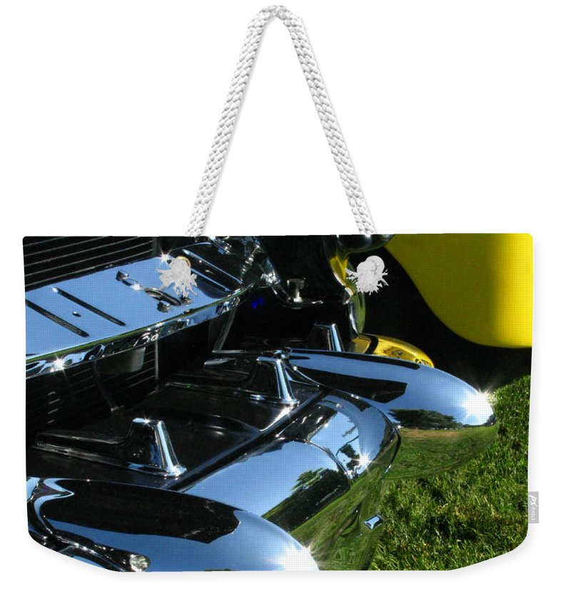 1953 Mercury Monterey Weekender Tote Bag featuring the photograph 1953 Mercury Monterey by Peter Piatt