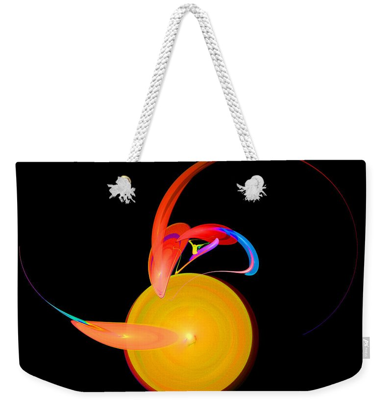Fractal Digital Art Weekender Tote Bag featuring the photograph Abstract Twenty-one by Mike Nellums