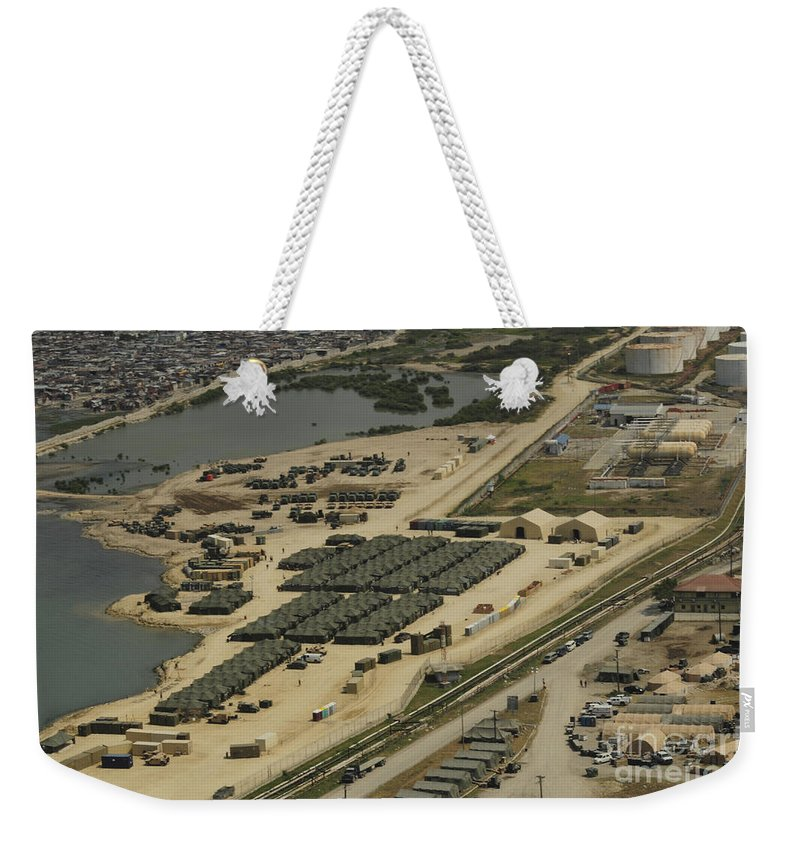 Haiti Weekender Tote Bag featuring the photograph An Aerial View Of The White Beach by Stocktrek Images