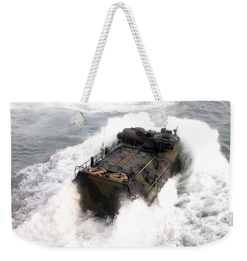 Aav Weekender Tote Bag featuring the photograph An Amphibious Assault Vehicle by Stocktrek Images