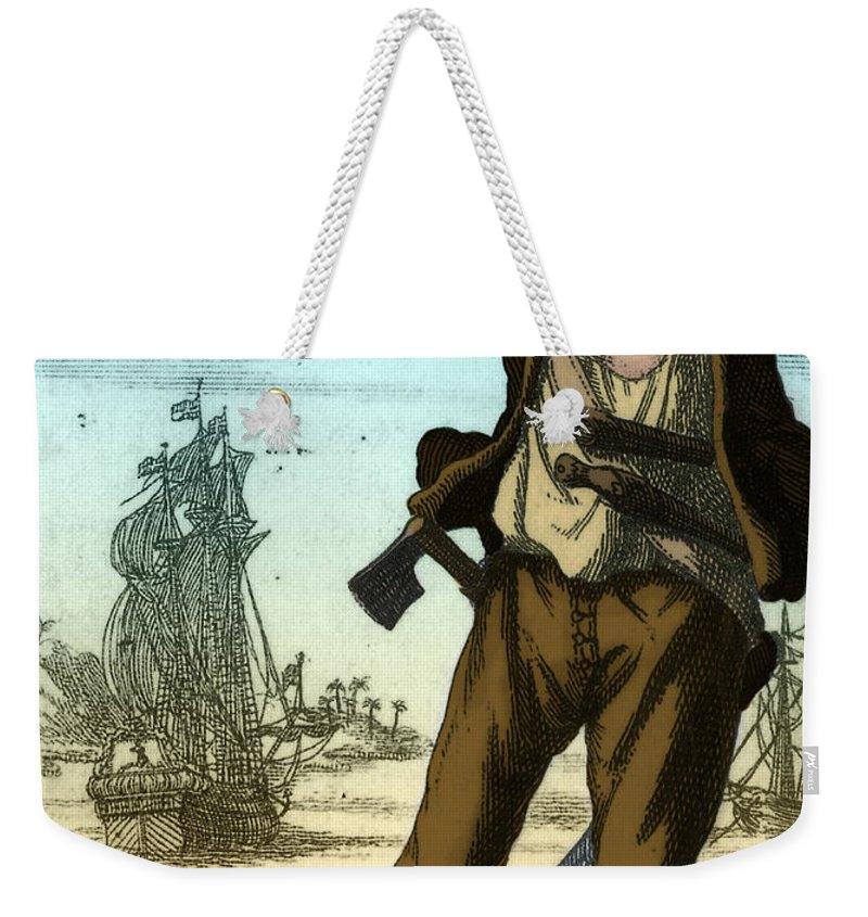 Anne Bonny Weekender Tote Bag featuring the photograph Anne Bonny, 18th Century Pirate by Photo Researchers