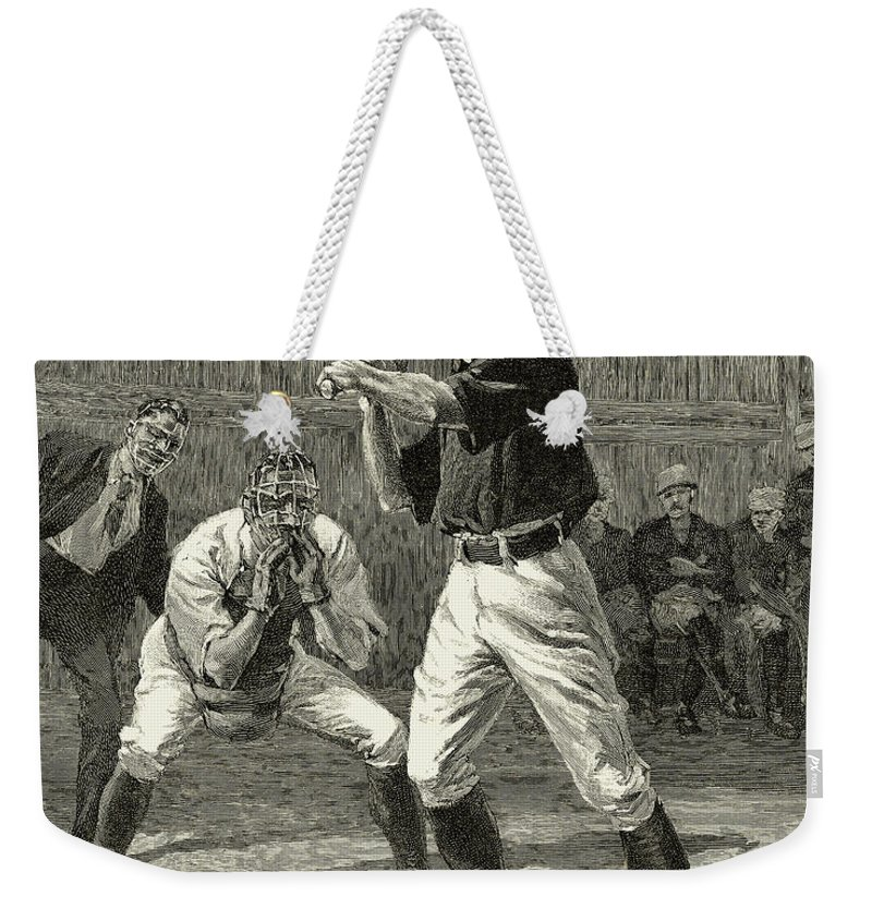 1888 Weekender Tote Bag featuring the photograph Baseball, 1888 by Granger