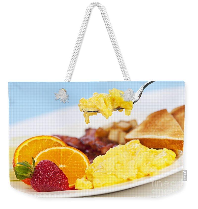 Breakfast Weekender Tote Bag featuring the photograph Breakfast by Elena Elisseeva