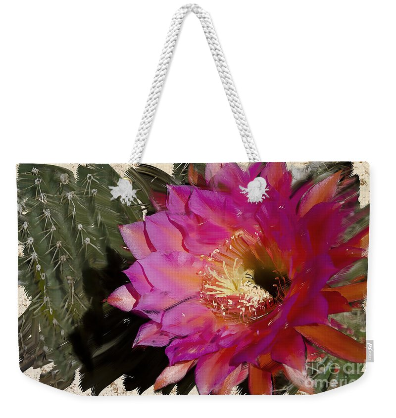 Cactus Weekender Tote Bag featuring the photograph Cactus Flower by Jim And Emily Bush