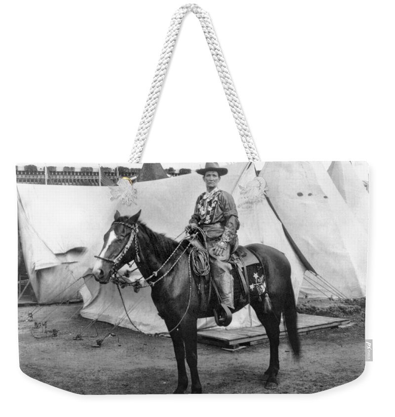 1901 Weekender Tote Bag featuring the photograph Calamity Jane (c1852-1903) by Granger