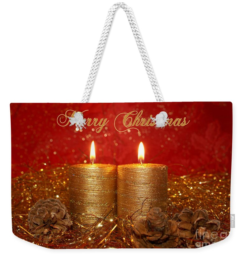2 Candles Christmas Card Weekender Tote Bag for Sale by Aimelle