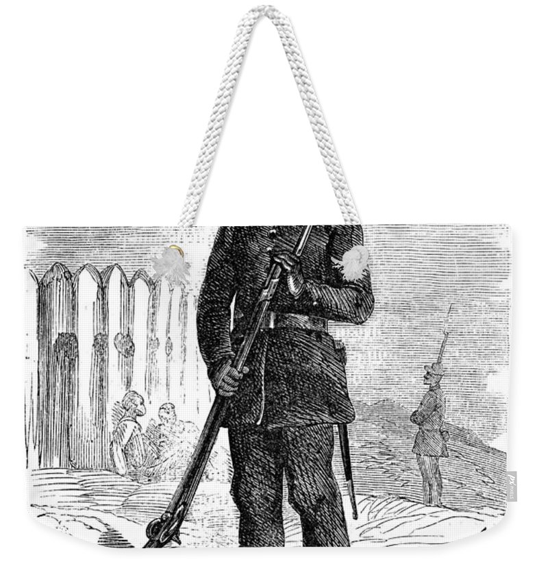 1864 Weekender Tote Bag featuring the photograph Civil War: Black Troops by Granger