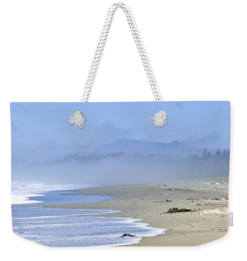 Pacific Weekender Tote Bag featuring the photograph Coast Of Pacific Ocean In Canada by Elena Elisseeva