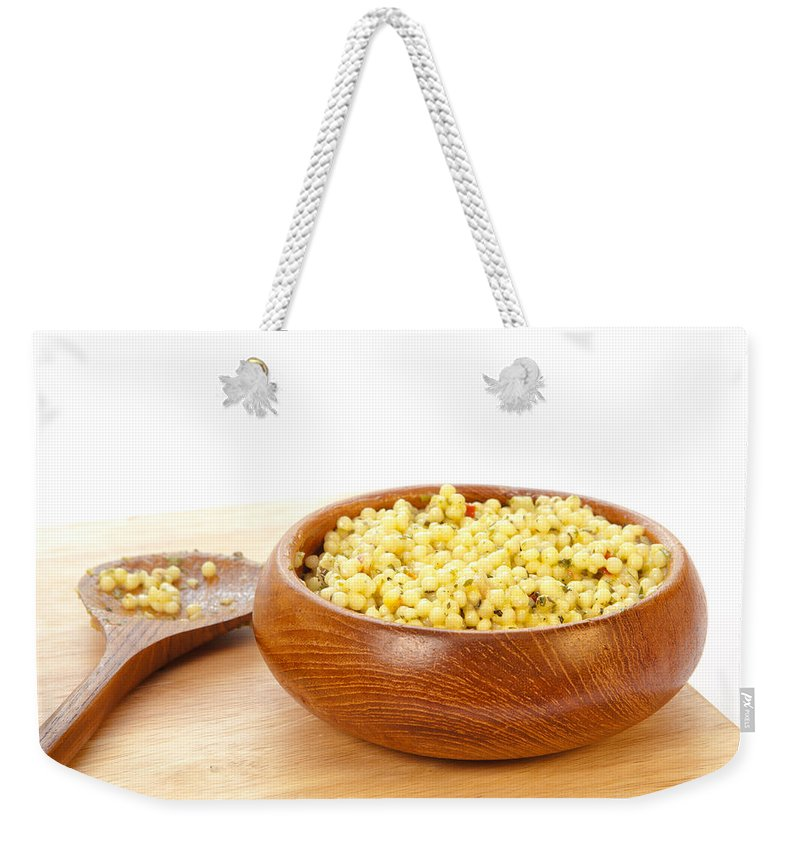Board Weekender Tote Bag featuring the photograph Cous Cous Salad by Tom Gowanlock