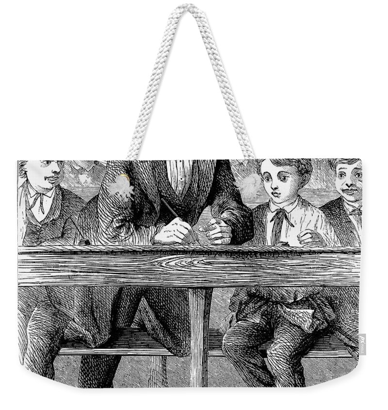 19th Century Weekender Tote Bag featuring the photograph Elementary School by Granger