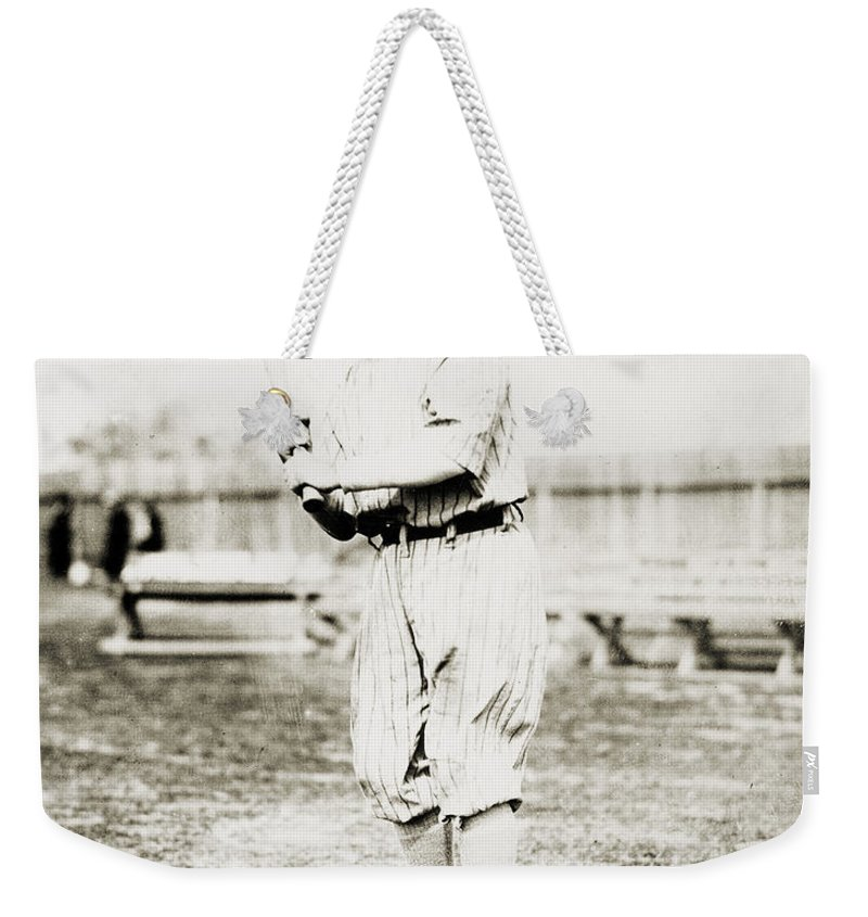 1914 Weekender Tote Bag featuring the photograph Fred Snodgrass (1887-1974) by Granger
