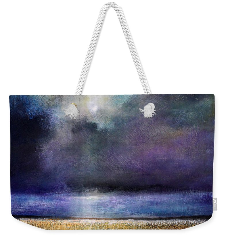 Stormy Weekender Tote Bag featuring the painting Glory Light by Toni Grote
