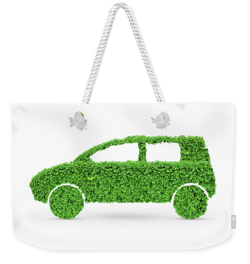 Green Car Weekender Tote Bag featuring the photograph Green Car by Oleksiy Maksymenko
