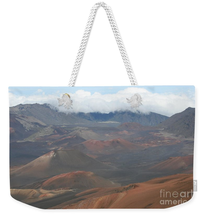 Haleakala Weekender Tote Bag featuring the photograph Haleakala Volcano Maui Hawaii by Sharon Mau
