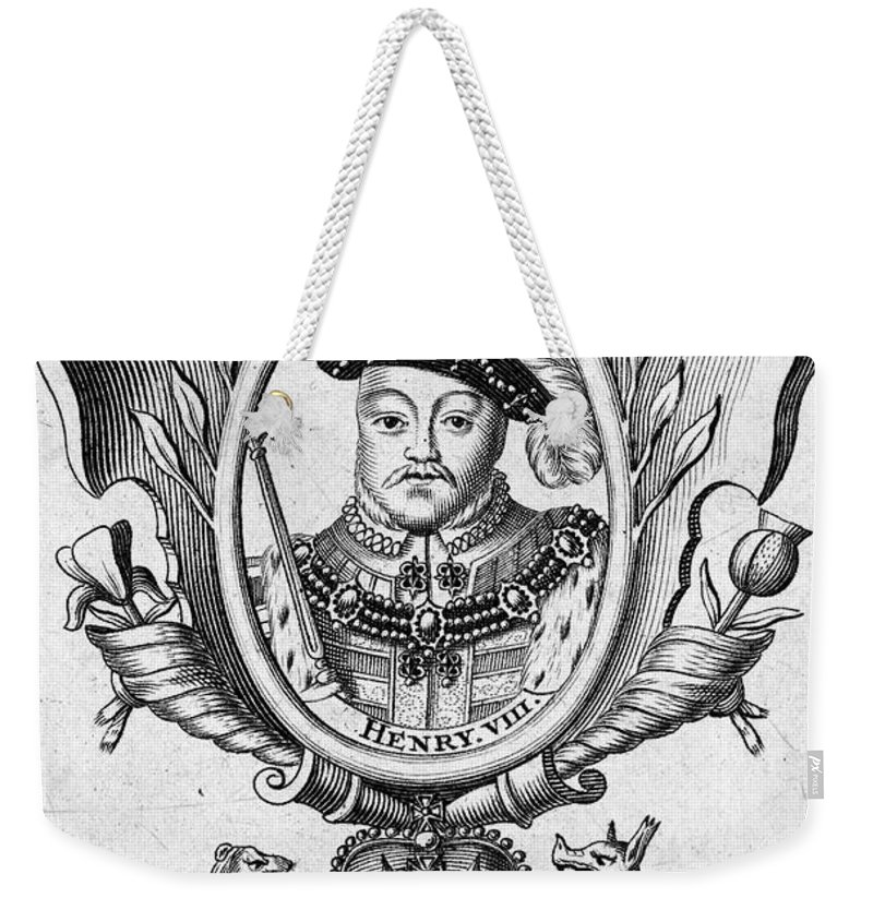 16th Century Weekender Tote Bag featuring the photograph Henry Viii (1491-1547) by Granger