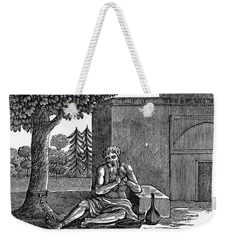 19th Century Weekender Tote Bag featuring the photograph India: Brahmin by Granger