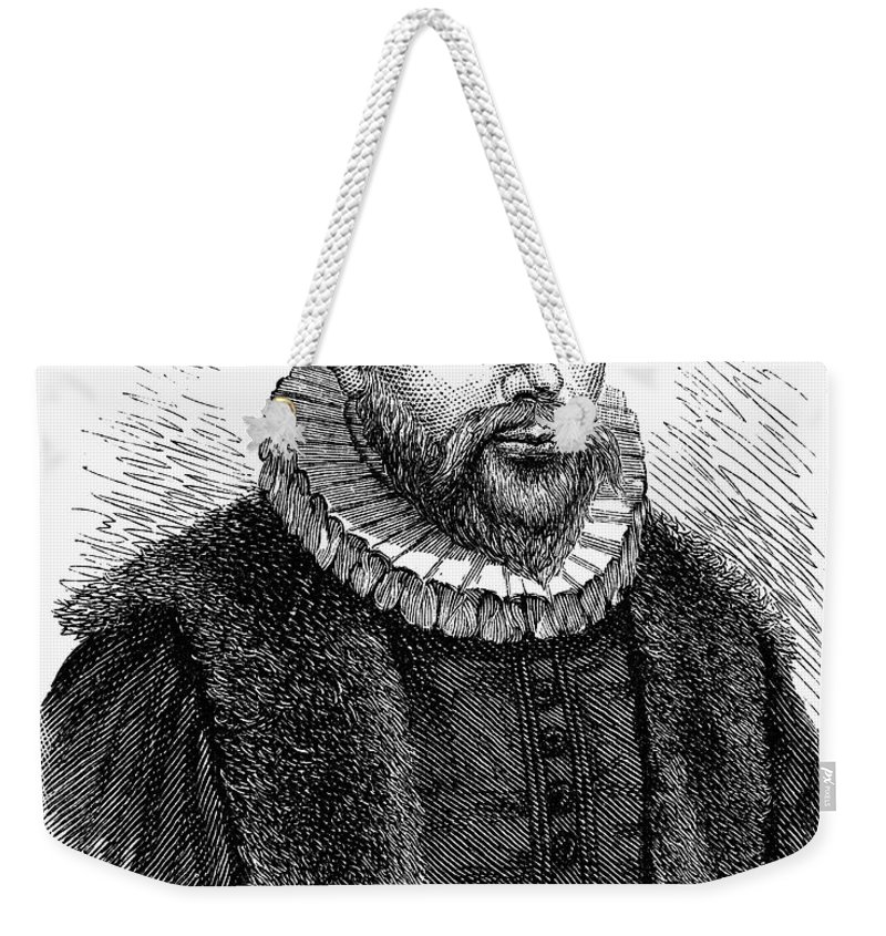 16th Century Weekender Tote Bag featuring the photograph Jacobus Arminius (1560-1609) by Granger